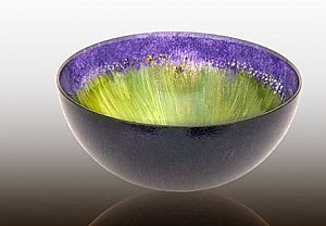 Large Bowl-Purple Garden