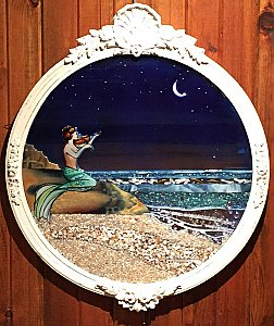 Mermaid with Violin Mirror