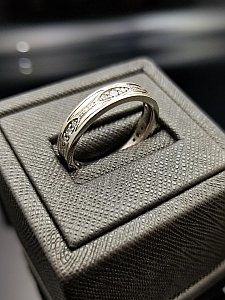 Engraved and Diamond Stackable