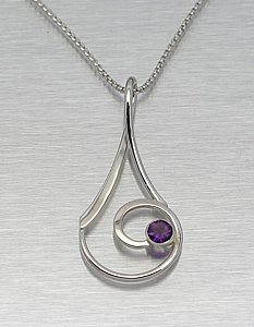 Amethyst Taper/Blade Necklace