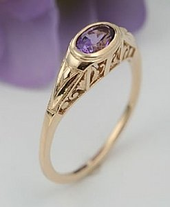 Esther's Garden Amethyst Ring