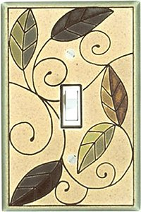 Mosaic Leaves Switch Plate