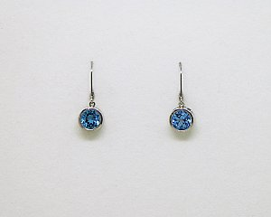 Filigree Topaz Drop Earring