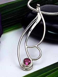 Sterling and Tourmaline Pendant
