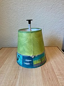 Woodland Trails in Leaf Small Drum Lamp Shade