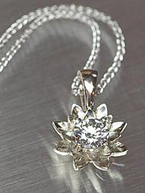 Diamond Lotus Blossom Necklace