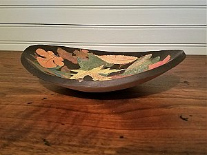 Multicolor Oval Bowl